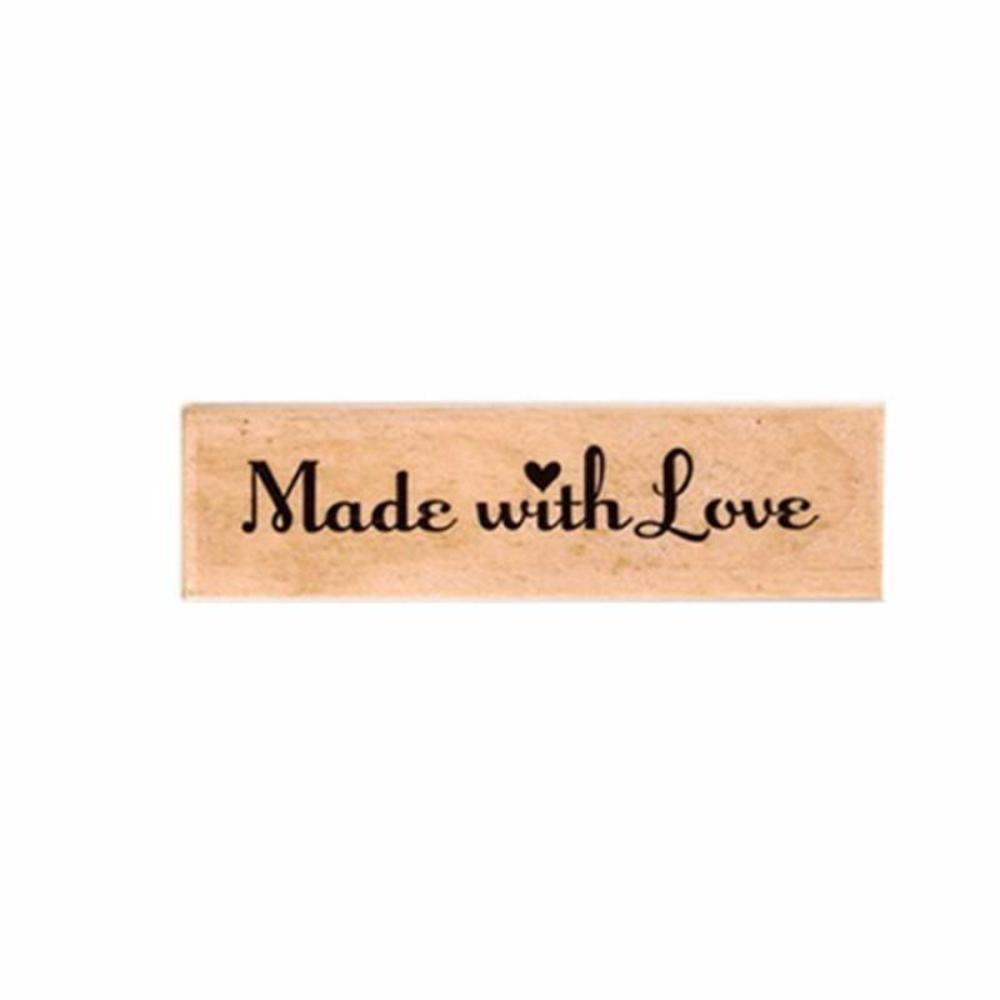 Vintage Wooden Rubber Stamp Vintage Stamps - Made with Love Homemade
