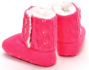 Baby Girl Soft Sole Knit Snow Boots