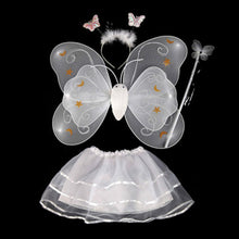 4-Piece Butterfly Fairy Wing + Wand + Headband + Tutu Skirt Sets