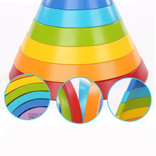 Goobie & Co. Wooden Rainbow Stacking Buliding Arches Blocks