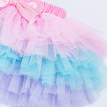 Infant/Toddler Chiffon 6-Layer Bowknot Tutu (Pastel Rainbow)