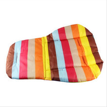 Rainbow Stripe Stroller Cushion