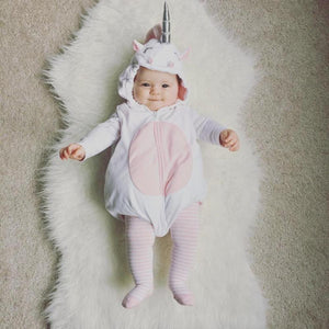 Hooded Unicorn Romper Costume