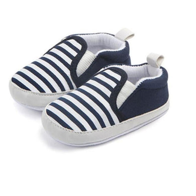 Infant First Walkers Striped Classic Loafer Shoes