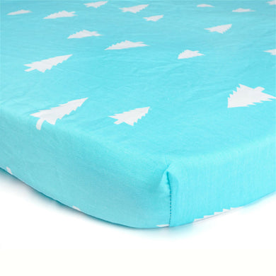 100% Organic Cotton Crib Sheet - Trees