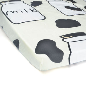 100% Organic Cotton Crib Sheet - Milk