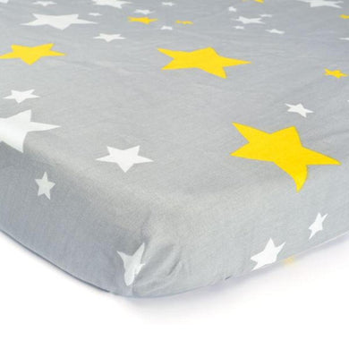 100% Organic Cotton Crib Sheet - Ash Stars