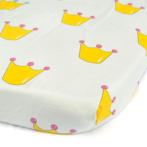 100% Organic Cotton Crib Sheet - Imperial Crown