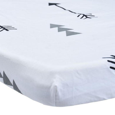 100% Organic Cotton Crib Sheet - Arrows