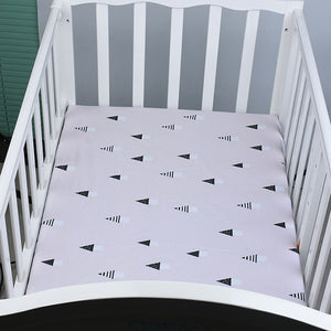 100% Organic Cotton Crib Sheet - Geo Triangles