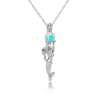 Opal Mermaid Pendant Necklace