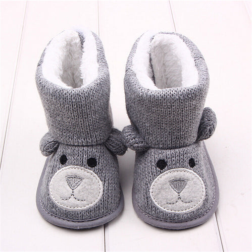 Baby Newborn Toddler Soft Sole Bear Snow Boots Shoes / Slippers for Winter