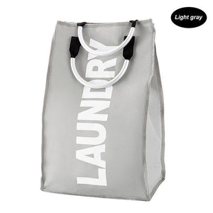Modern Foldable Laundry Bag with Sturdy Handles and Waterproof Oxford Material
