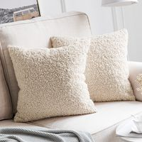 Super Soft Faux Wool Throw Pillow Cases 18x18