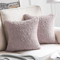 Super Soft Faux Wool Throw Pillow Cases 18x18""