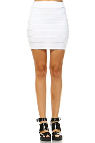 5Thread Bandage Bodycon Mini Skirts(16