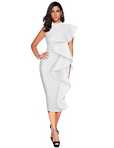 Ruffles Bodycon Vestidos Party Dress
