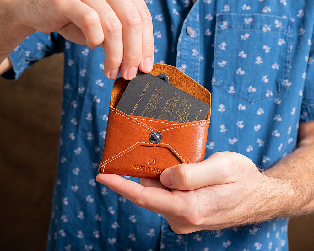 Brown Leather coin wallet for men