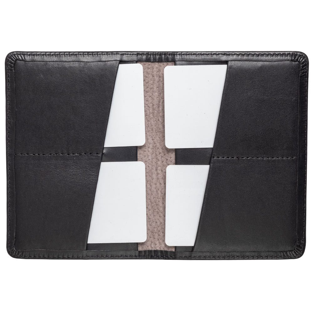 black compact travel wallet