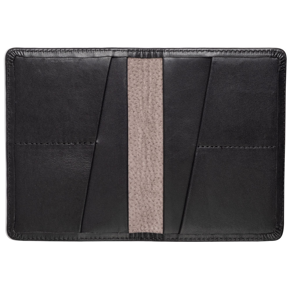 compact black passport cover