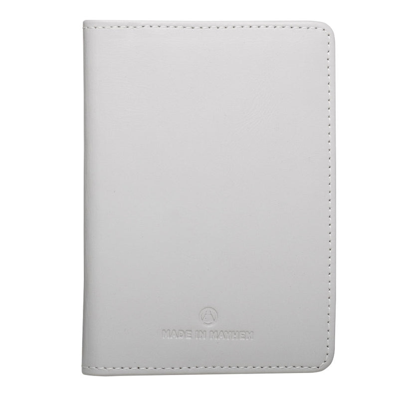 white passport wallet for men