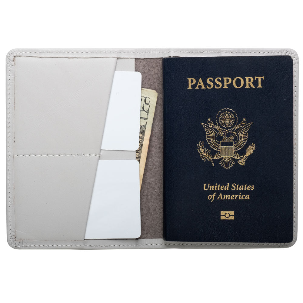 white compact wallet for passport