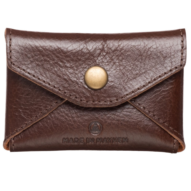 compact brown leather wallet