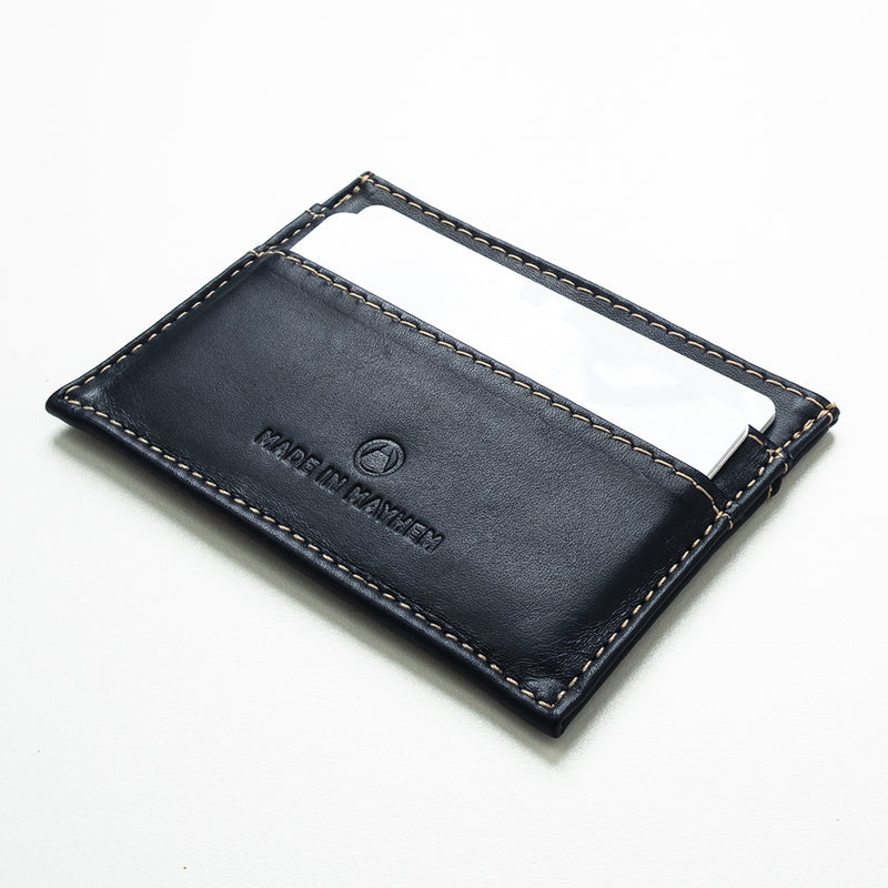 Compact Navy leather wallet for men