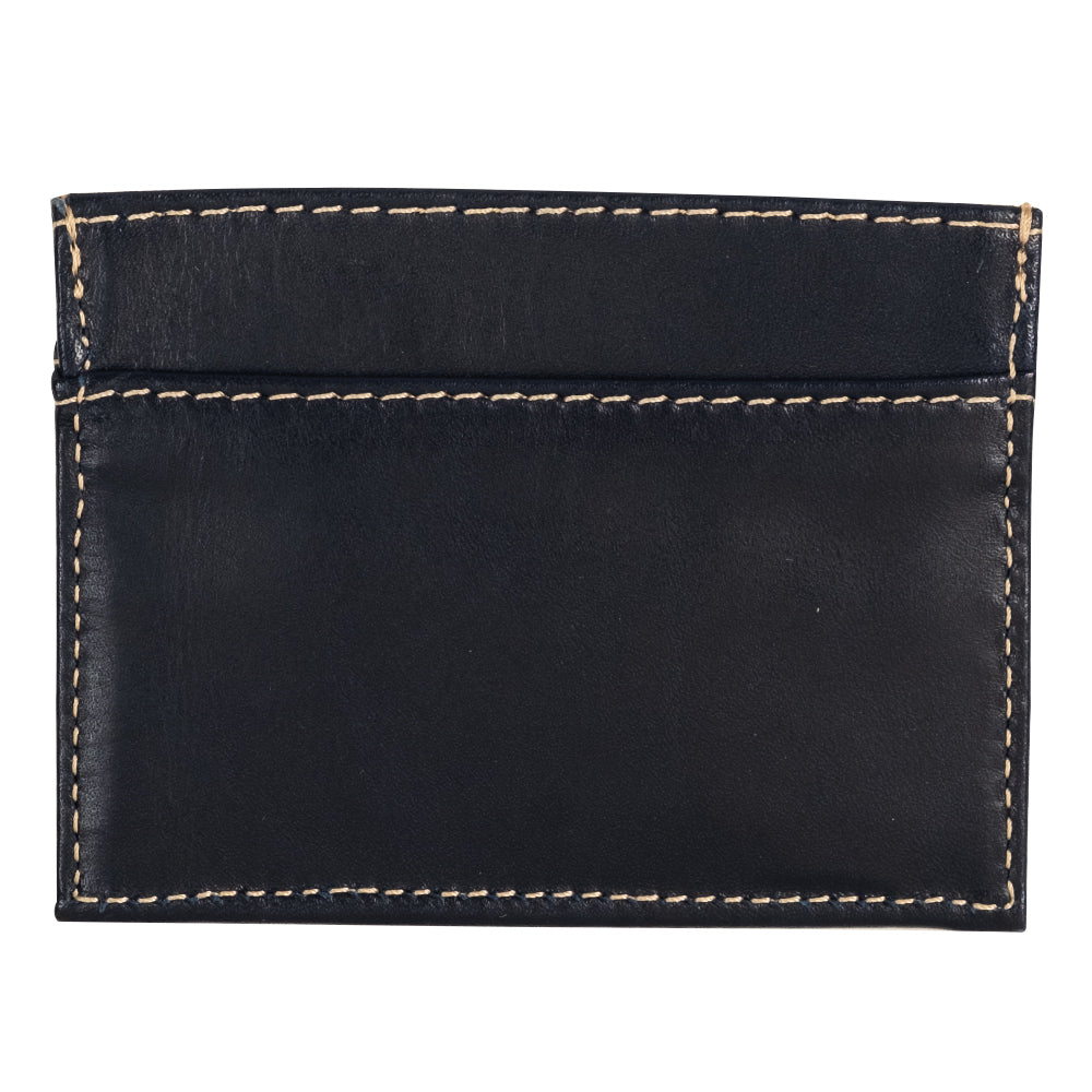 Minimalist Navy leather wallet for men