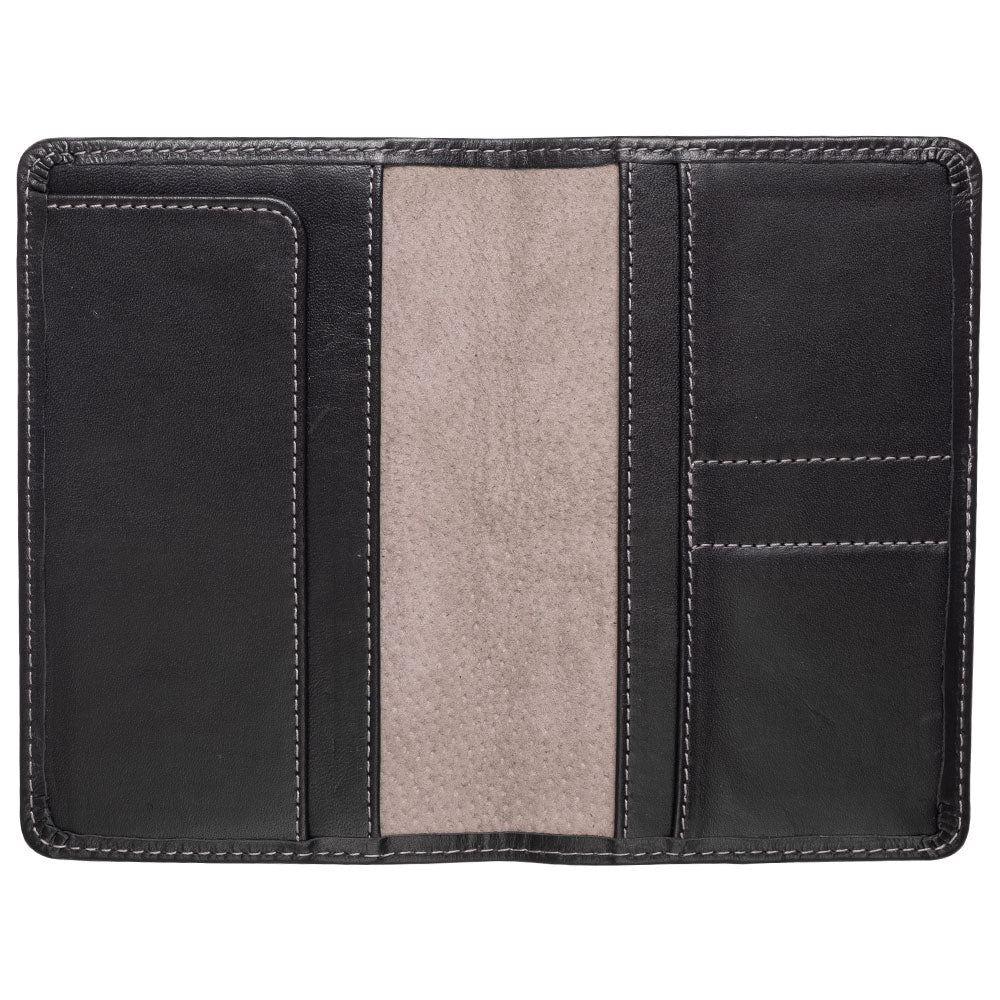 black leather wallet for passport