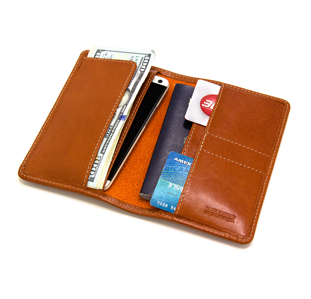 Men's passport cover and wallet