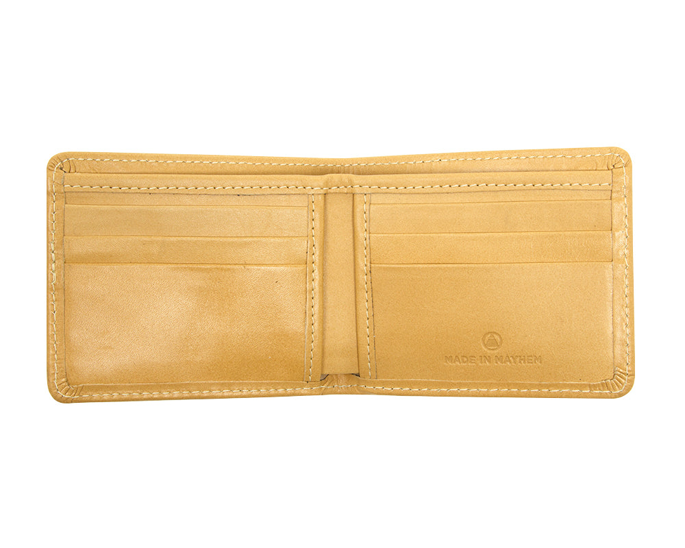 Large leather wallet for men.