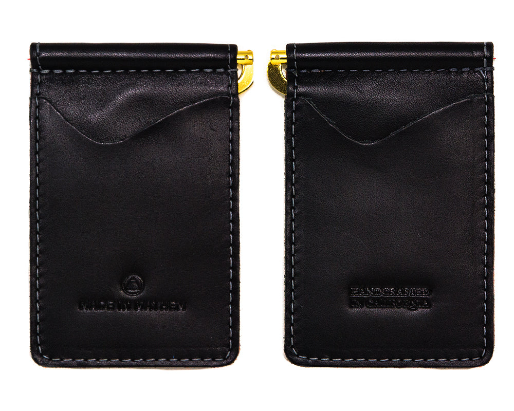 Black leather wallet for me with money clip