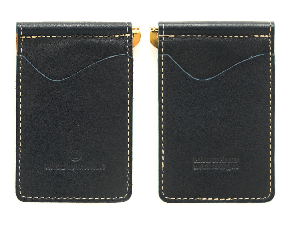 navy blue money clip wallet