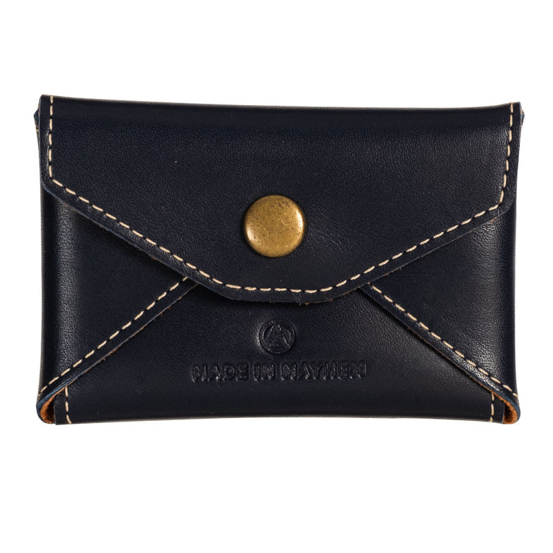 Navy blue leather coin purse