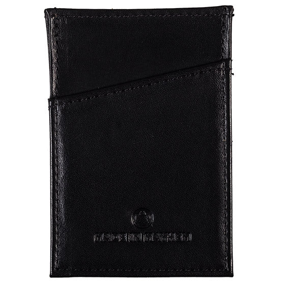 Black leather small wallet for men