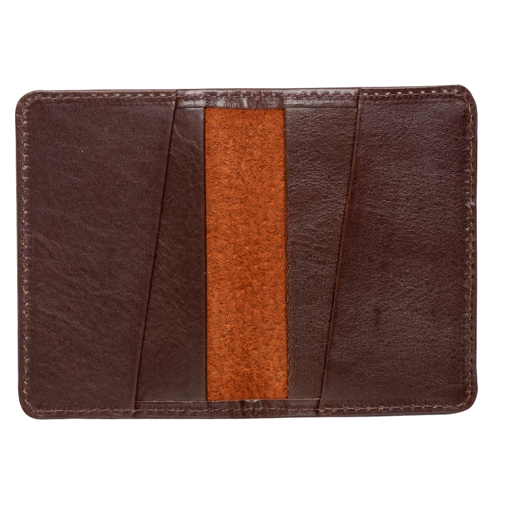 brown leather wallet for front pocket