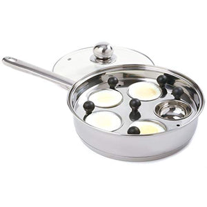 "Norpro Stainless Steel Egg Poacher/Skillet Set, 10"", Silver"