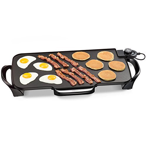 Presto 07061 22-inch Electric Griddle With Removable Handles,Black