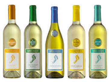 different bottles of chill white wine