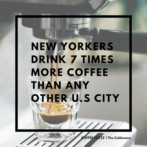 coffee drinking in new york, the coldwave coffee facts