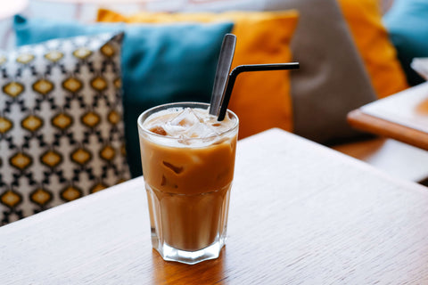 iced coffee at a restaurant