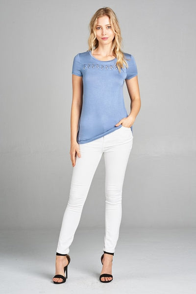 MUST HAVE Eyelet Tee