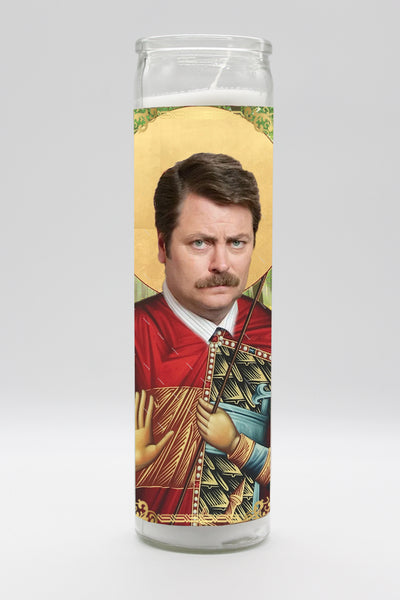 Ron Swanson Candle