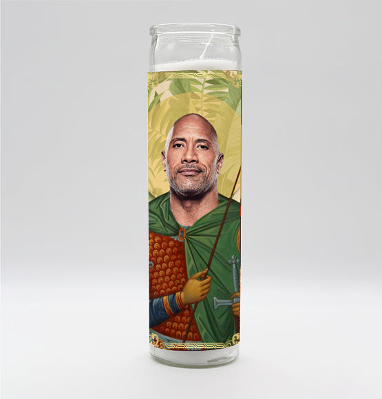 Dwayne The Rock Johnson Candle