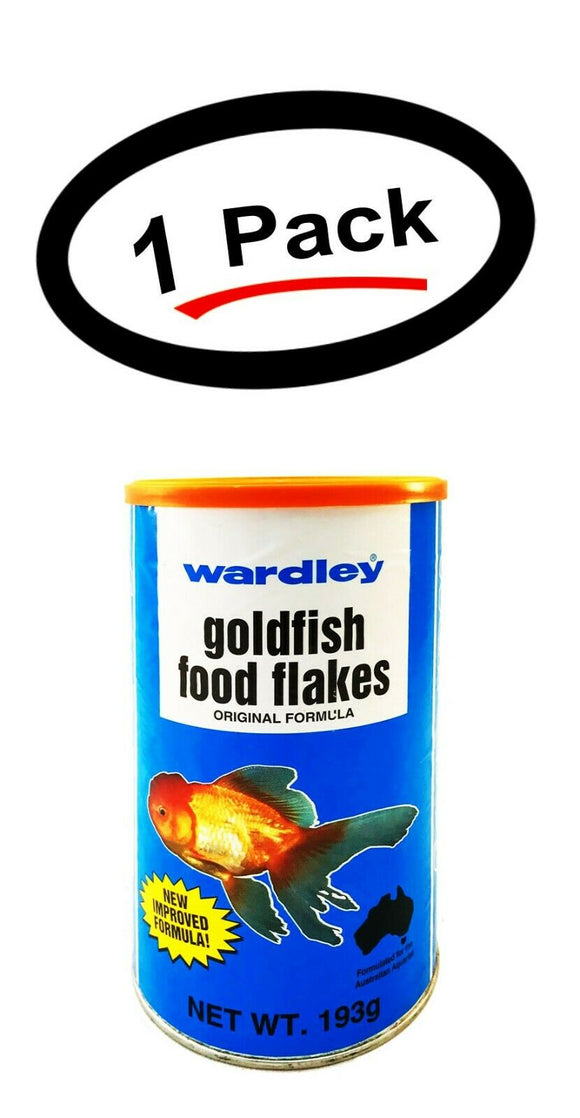 1 Pack Wardley Goldfish Flakes Food 6.8 Oz. Original Formula