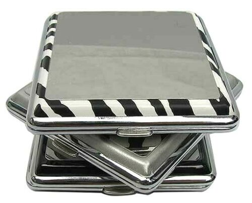Mirrored unfiltered short snazzy cigarette cases holds 9 cigarettes