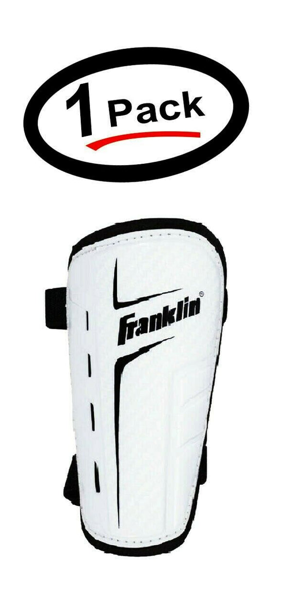 Franklin Sports Superlight Lightweight Shin Guards, Adult Large, White