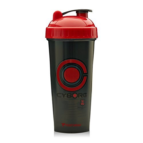 Perfect Shaker Justice League Cyborg Shaker Bottle Cup (28oz)