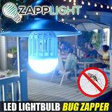 ZappLight LED 60W Bug Zapper Bulb by BulbHead Insect and Mosquito